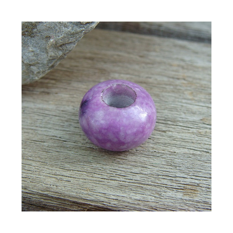 Perle jade purple large trou