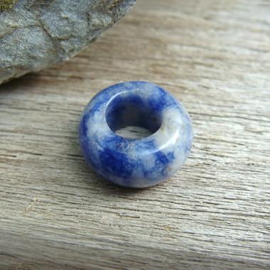 Perle sodalite large trou