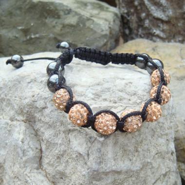 Bracelet shamballa hématite