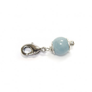 "Charm aigue-marine pour ""european beads"""