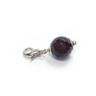 """Charm grenat facetté pour """"european beads"""""""
