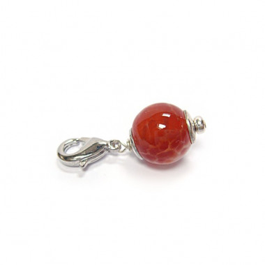 "Charm agate de feu pour ""european beads"""