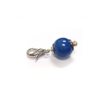 """Charm lapis lazuli pour """"european beads"""""""