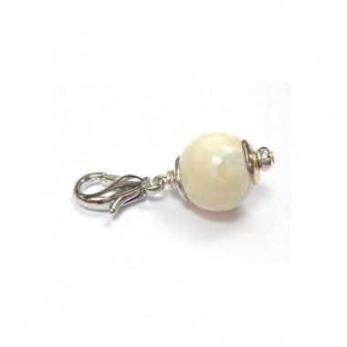 """Charm nacre pour """"european beads"""""""