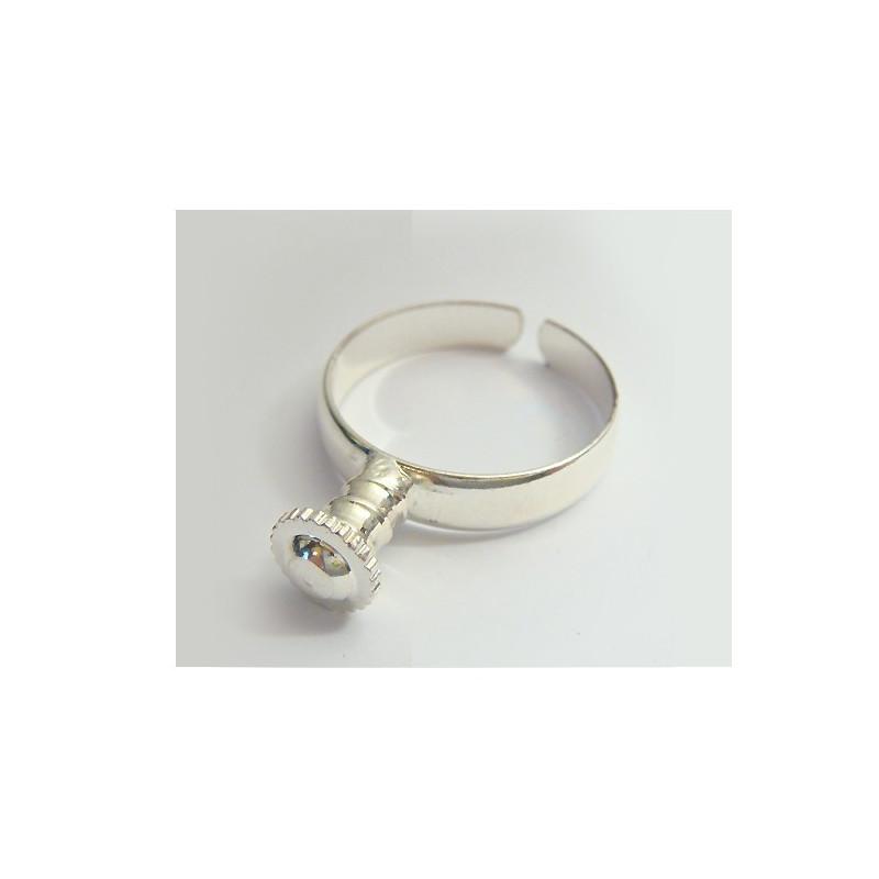 Bague métal reglable pour perles européennes