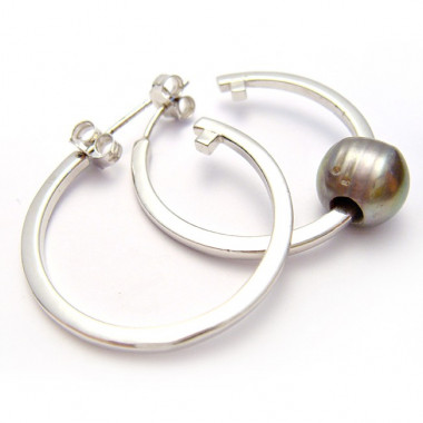 Boucles d'oreilles créoles argent 925