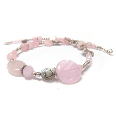 Collier en quartz rose
