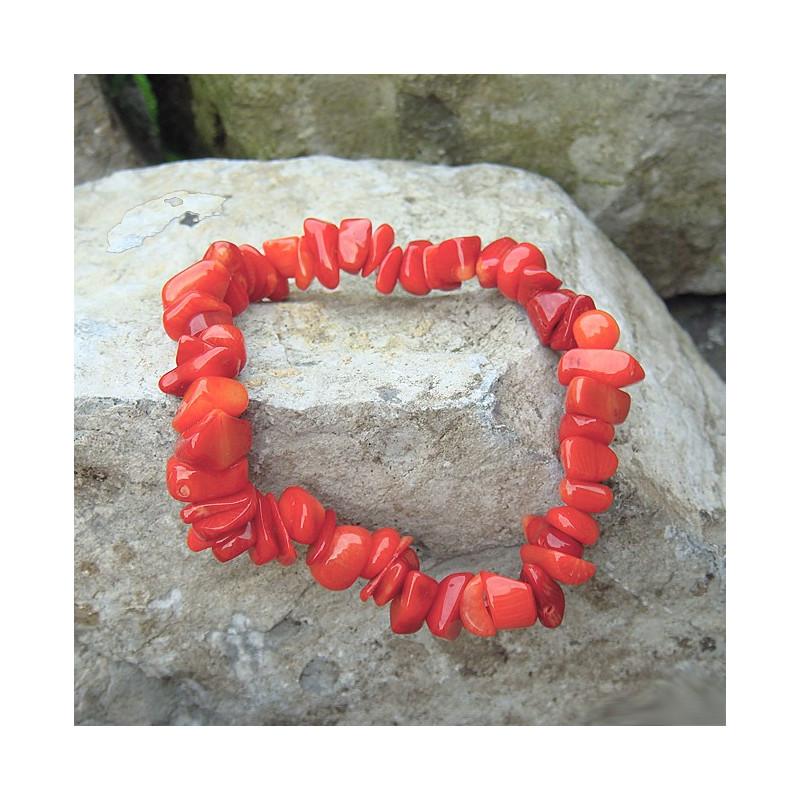 Bracelet chips en corail
