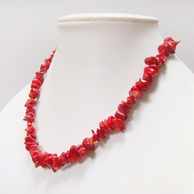 Collier chips de corail