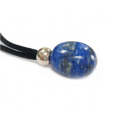 Collier cordon et pendentif lapis lazuli