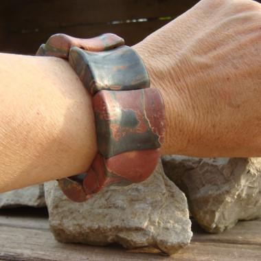 Bracelet extensible en jaspe