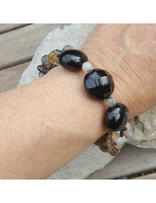 Bracelet en agate naturelle