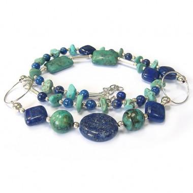 Collier lapis lazuli et turquoise
