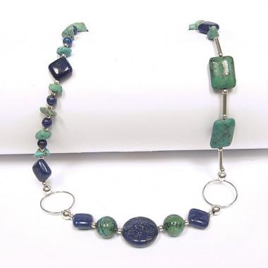 Collier lapis lazuli et...