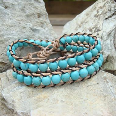 "Bracelet ""wrap"" turquoise"