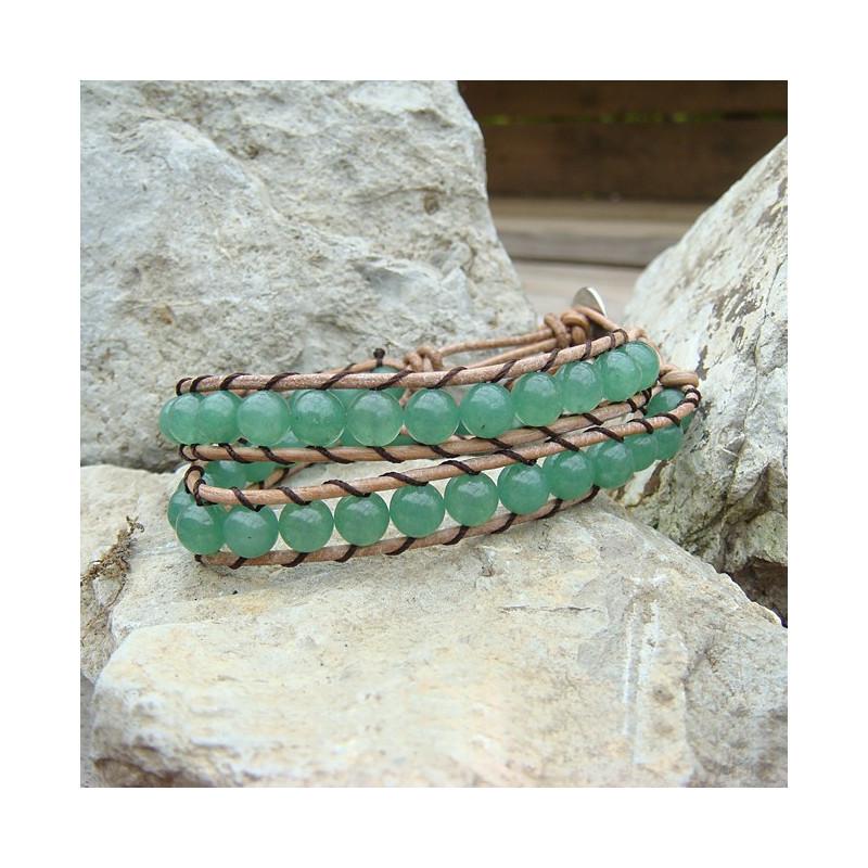 "Bracelet ""wrap"" aventurine"
