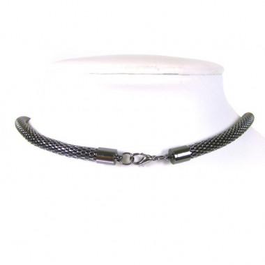 Collier chaîne noire quartz...