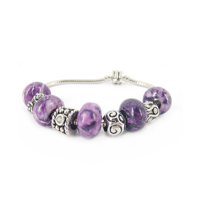 Bracelet EUR jade purple