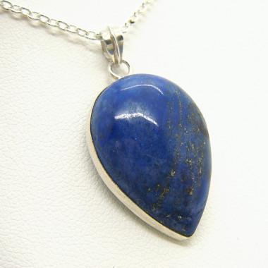 Pendentif Lapis lazuli argent sur chaîne argent
