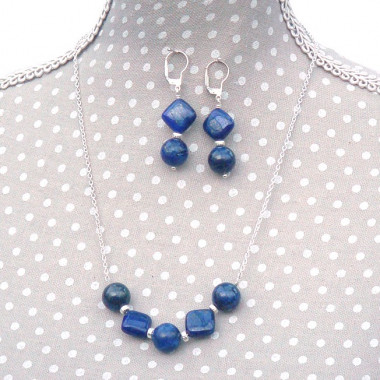 Parure Lapis lazuli, ag 925