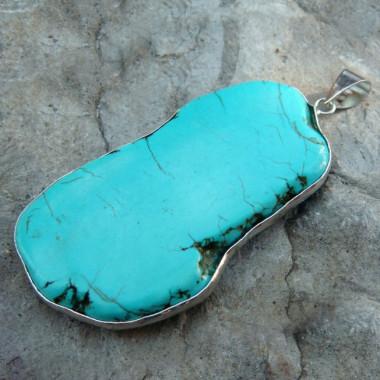 Grand pendentif en turquoise