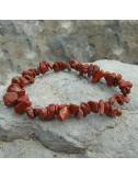 Bracelet baroque jaspe rouge