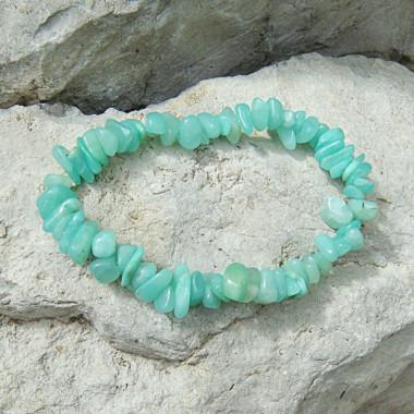 Bracelet baroque chrysoprase