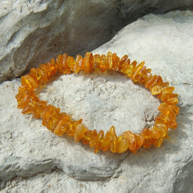 Bracelet baroque ambre