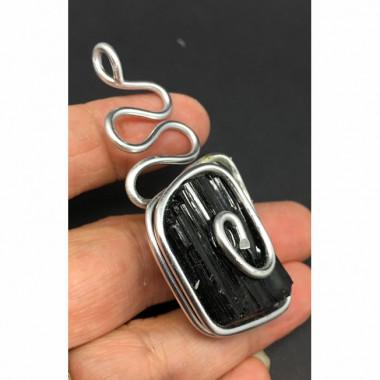 Pendentif énergétique tourmaline noire