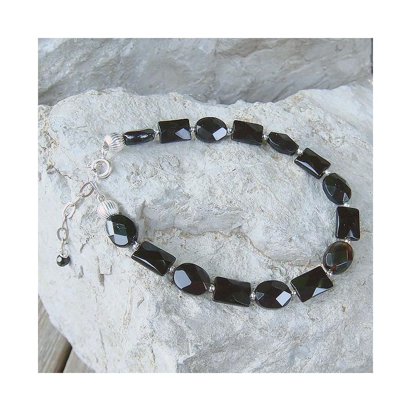 Bracelet onyx sur argent 925