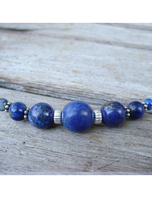 Long collier lapis lazuli
