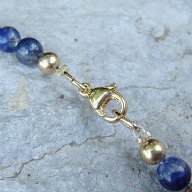 Collier lapis lazuli et plaqué or