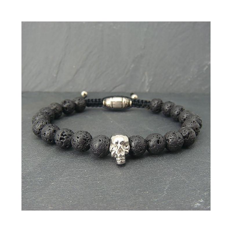 Bracelet homme en pierre de lave