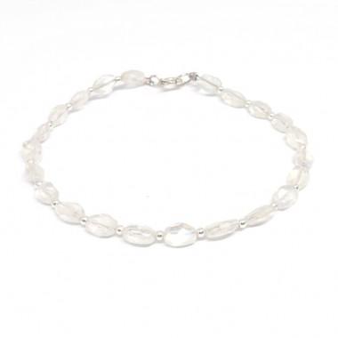 Bracelet pierre de lune pierres facettées