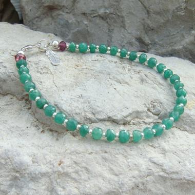 Bracelet en pierre émeraude