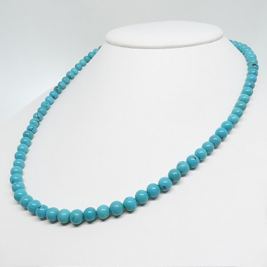 Collier turquoise, belles perles rondes
