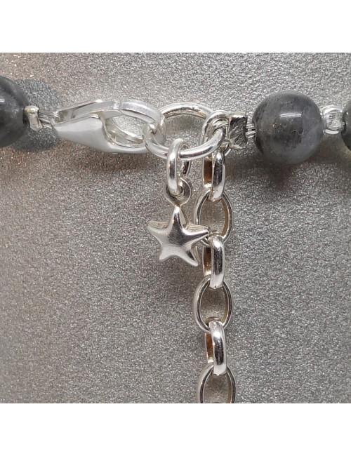 Bracelet labradorite et argent 925