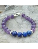 Améthyste et lapis lazuli, bracelet