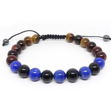 Les 3 oeils et lapis lazuli, Bracelet homme