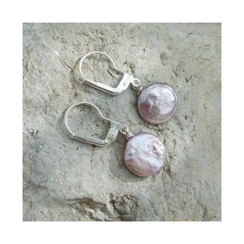 Boucles d'oreilles en perle d'eau douce