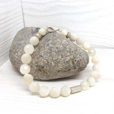 Nacre naturelle facettée, Bracelet création