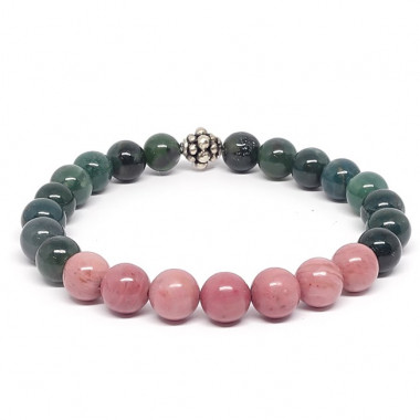 Labradorite, jadéite, améthyste, quartz rose et fluorite