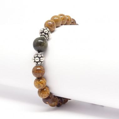 Le jaspe brun, zébré, capuccino, aide à la prise de décisions rapides et  permet de mettre les pensées en actes