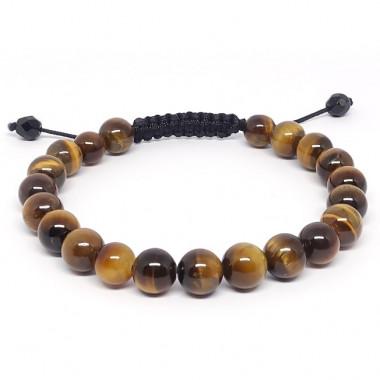 Cornaline et quartz fumé, Bracelet pierres facettées