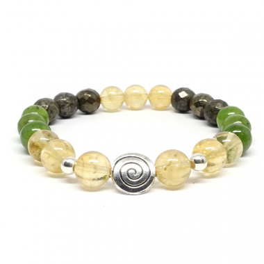 Jade, pyrite et citrine