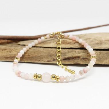 Opale rose et pierre de...