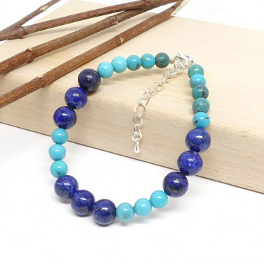 Lapis lazuli et turquoise