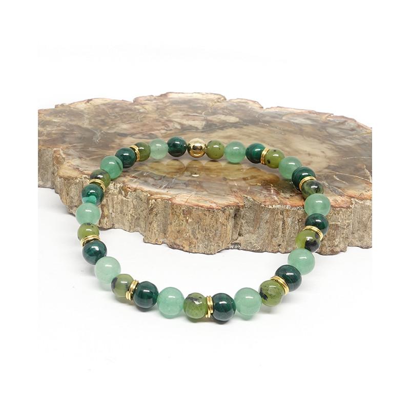 Malachite, aventurine et jade
