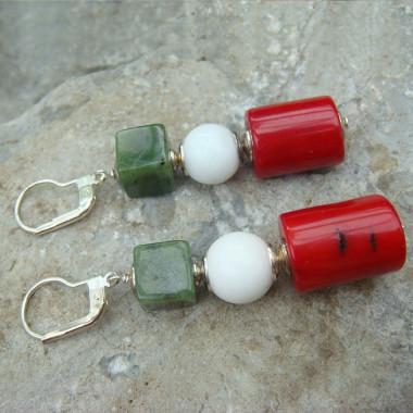 Boucles d'oreilles jade,...