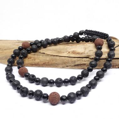 Laradorite et corail, Bracelet